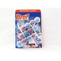Для унітазів шарики, блок для туалету Bref power activ  Бреф 3 шт  фіолетові лаванда