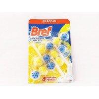 Для унітазів шарики, блок для туалету Bref power activ  Бреф 3 шт  жовті лимон