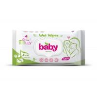 Вологі серветки Biolly Baby з алое 120 шт