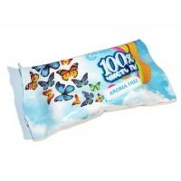 Серветки вологі  15 шт без запахів 100% чистоти