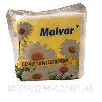 Серветкі сухі Malvar 100 шт білі