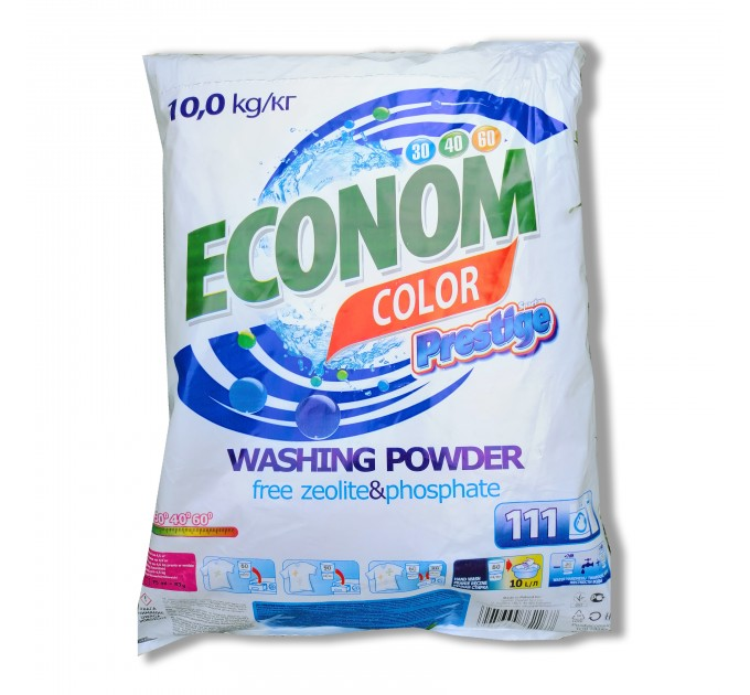 Пральний порошок Color Економ пакет 10 кг  Prestige