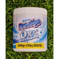 Відбілювач та плямовивідник Prestige oxy & anzyme 750 гр для білої білизни