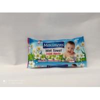 Серветки вологі з вітаміном Е, В5  72 шт Maximens