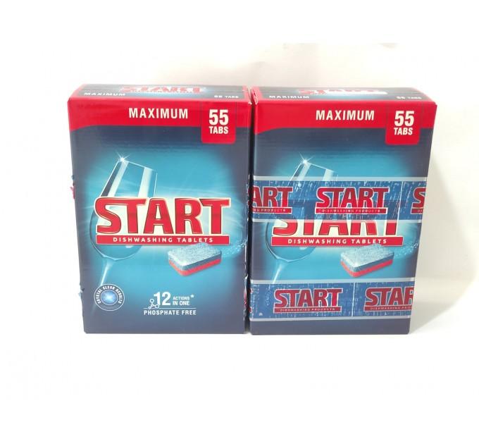 Таблетки  для посудомийних машин Start Старт 55+55 шт Максимум 2 уп акція