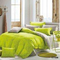 Комплект двоспальний 17106 сірий лимонний лінії Вілюта Viluta ранфорс